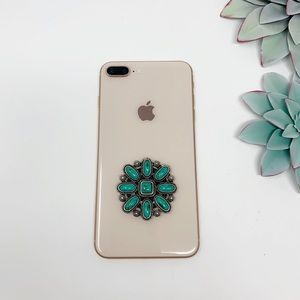 Accessories - Lone Rider Boho Western Phone Grip Charm Turquoise